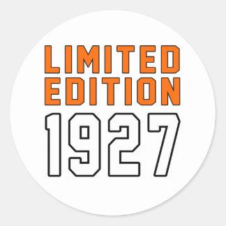Edición limitada 88 diseños del cumpleaños pegatinas redondas