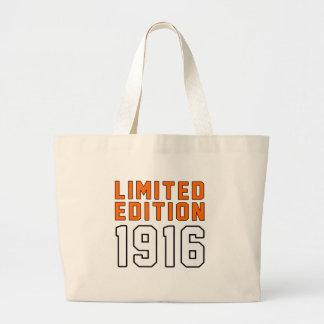 Edición limitada 99 diseños del cumpleaños bolsa tela grande