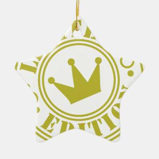 edición limitada adorno navideño de cerámica en forma de estrella