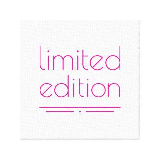 Edición limitada - una de una clase lona estirada galerias