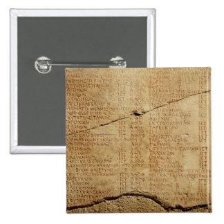Edict of Emperor Diocletian 2 Inch Square Button