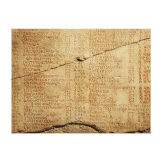 Edict of Emperor Diocletian Canvas Print