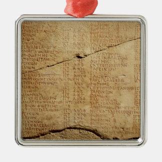 Edict of Emperor Diocletian Metal Ornament