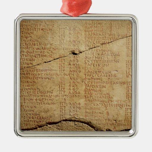 Edict of Emperor Diocletian Square Metal Christmas Ornament