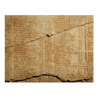 Edict of Emperor Diocletian Postcard