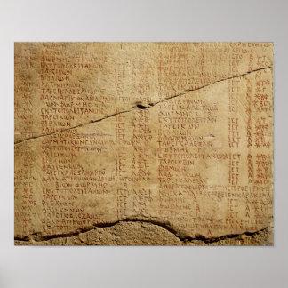 Edict of Emperor Diocletian Poster