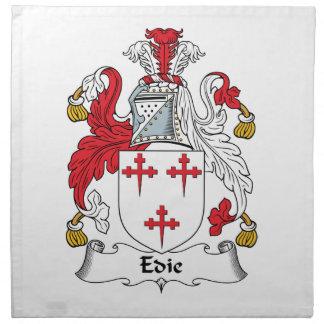 Edie or Edy Family Crest Cloth Napkin