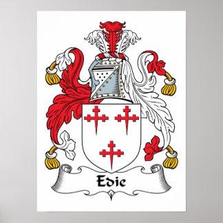 Edie or Edy Family Crest Print