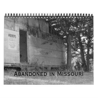 Edificio abandonado de Missouri Calendario De Pared
