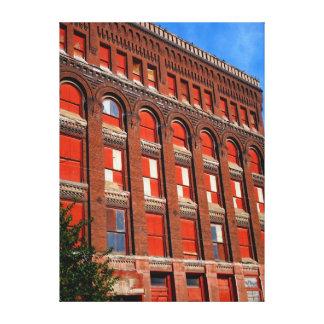 Edificio abandonado impresión en lienzo