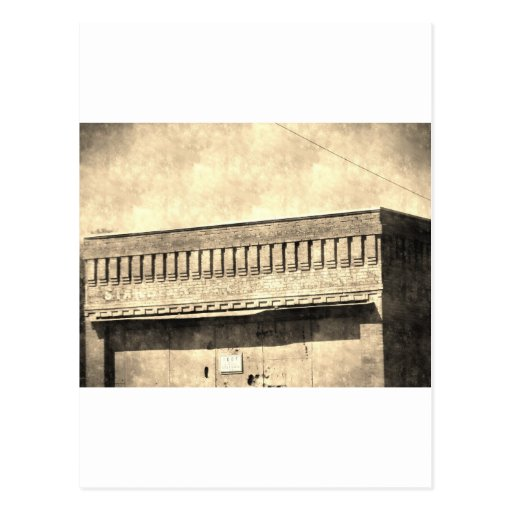 Edificio antiguo del vintage tarjeta postal