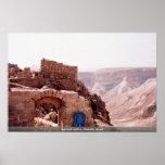 Edificio antiguo, Masada, Israel Poster