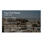 Edificio antiguo, Masada, Israel Tarjeta De Negocio