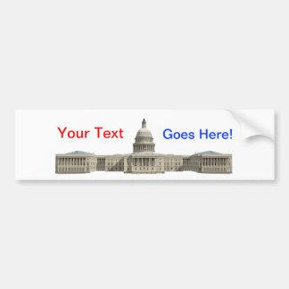 Edificio capital de los E.E.U.U.: Washington DC Pegatina Para Auto