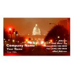 Edificio capital en la noche tarjetas de visita