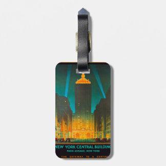 Edificio central de Nueva York Etiqueta Para Equipaje