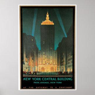 Edificio central de Nueva York, febrero de 1930 Póster