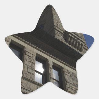 Edificio con la torre de reloj, San Jose céntrico Pegatina En Forma De Estrella
