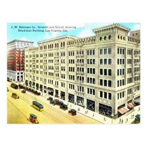 Edificio de Brockman, vintage 1916 de Los Ángeles Tarjeta Postal