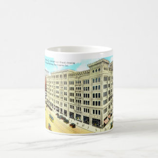 Edificio de Brockman, vintage 1916 de Los Ángeles Taza Básica Blanca