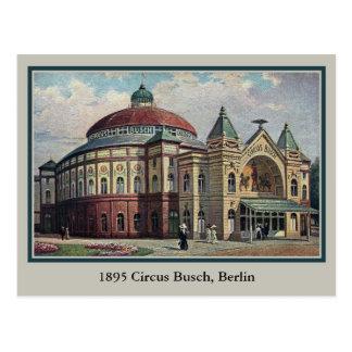 Edificio de Busch del circo de Berlín del vintage Postal