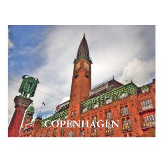 Edificio de Copenhague Dinamarca Tarjetas Postales