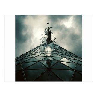 Edificio de cristal fantástico fresco abstracto tarjetas postales