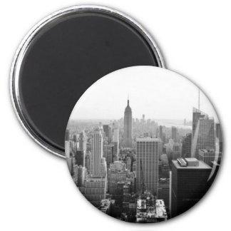 Edificio de estados de imperio Manhattan Imán Redondo 5 Cm