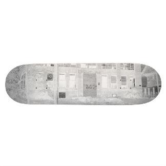 Edificio de fabricación abandonado - negativa skate boards