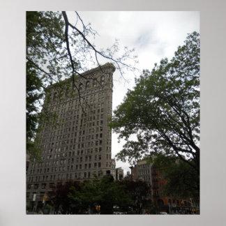 Edificio de Flatiron de la lona cuadrada del parqu Impresiones