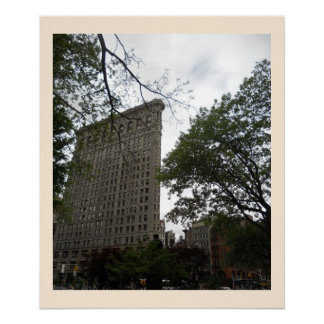 Edificio de Flatiron de la lona cuadrada del parqu Posters