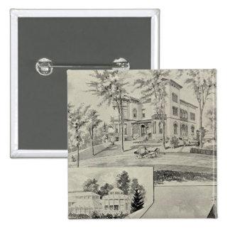 Edificio de Harris, nuevo Londres, conec Pin Cuadrada 5 Cm
