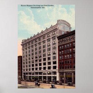 Edificio de Indianapolis, Indiana Hume Mansur Póster