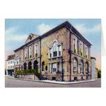 Edificio de intercambio viejo en Charleston Caroli Felicitación