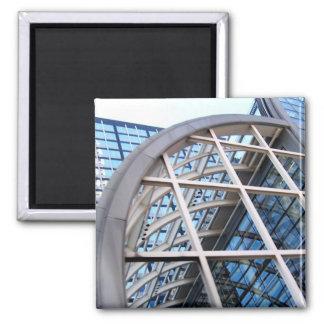 edificio de la caja registradora (Wells Fargo) Imán Cuadrado