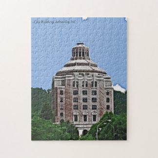 Edificio de la ciudad, Asheville, NC Puzzle Con Fotos