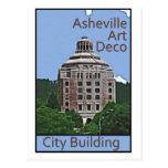 Edificio de la ciudad, Asheville Tarjetas Postales
