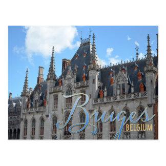 Edificio de la corte de Brujas Bélgica el | Postal