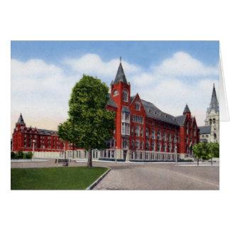 Edificio de la universidad de St. Louis Missouri Tarjetón