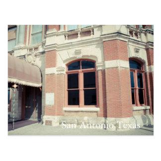 Edificio de ladrillo histórico San Antonio, Tejas Tarjeta Postal