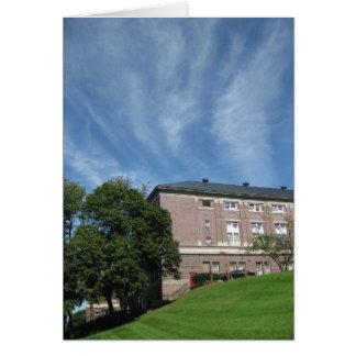Edificio de los Amos Eaton con las nubes Tarjeta De Felicitación