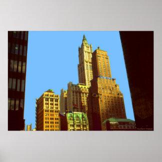 Edificio de Nueva York Woolworth - impresión del p