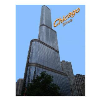 Edificio de oficinas de la torre del triunfo de tarjeta postal
