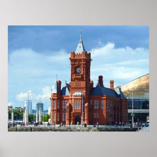 Edificio de Pierhead, Cardiff, País de Gales, Rein Posters