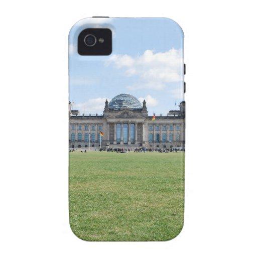 Edificio de Reichstag - Berlín, Alemania Case-Mate iPhone 4 Fundas
