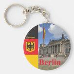 Edificio de Reichstag. Berlín, Alemania Llavero Redondo Tipo Chapa