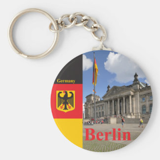 Edificio de Reichstag. Berlín, Alemania Llavero Redondo Tipo Pin