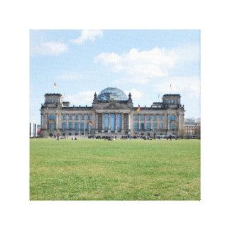 Edificio de Reichstag - Berlín, Alemania Lona Estirada Galerías