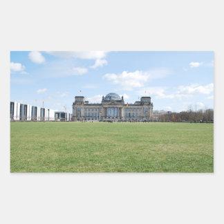 Edificio de Reichstag - Berlín, Alemania Pegatina Rectangular