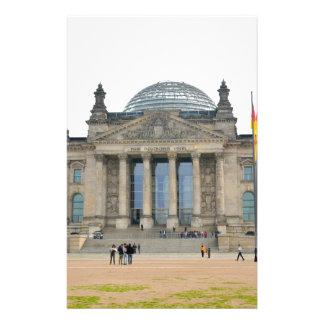 Edificio de Reichstag en Berlín, Alemania Papeleria Personalizada